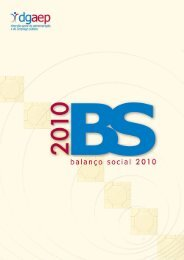 Balanço Social 2010 (pdf) - Direcção-Geral da Administração e do ...