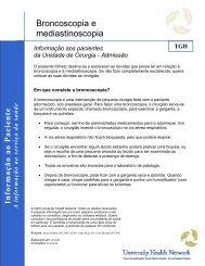 Bronchoscopy and Mediastinoscopy - University Health Network