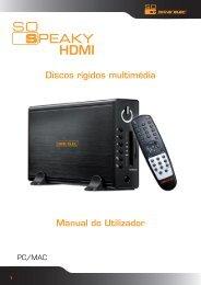 Discos rígidos multimédia Manual do Utilizador - DaneDigital