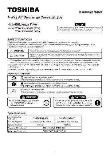 IM TCB-UFM(H) - Toshiba AIR CONDITIONING