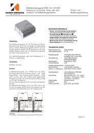 Mehrfachsteuergerät 331000 - Kaiser Nenhaus - Komfort & Technik ...