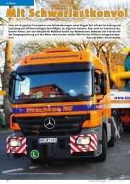 Zeitungsartikel Schwertransportmagazin 22/2008 - Mennen & Wittrock