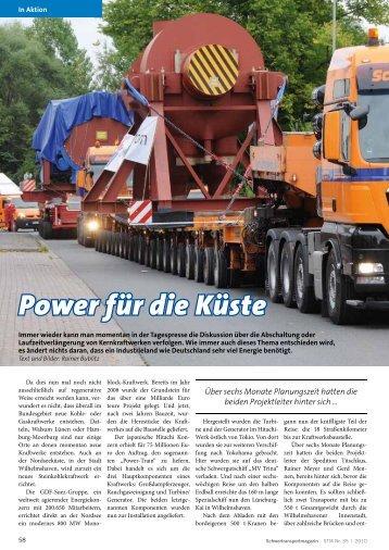 Schwertransportmagazin 33 / 2010 - Power für die Küste