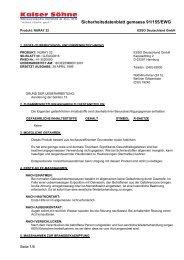 Sicherheitsdatenblatt gemaess 91/155/EWG