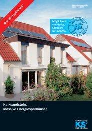 Energiesparhäuser - Kalksandsteinwerk Amberg