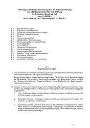 Ordnungsbehördliche Verordnung über die ... - Gemeinde Kall
