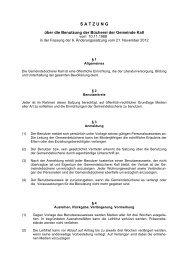Satzung über die Benutzung der Bücherei - Gemeinde Kall