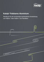Kalzip® Falzbares Aluminium