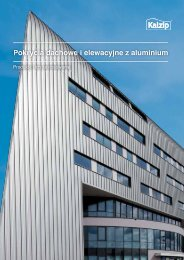 Pokrycia dachowe i elewacyjne z aluminium Pokrycia ... - Kalzip