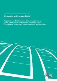 Checkliste Photovoltaik - Kalzip