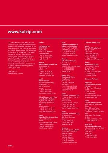 Destination Kalzip