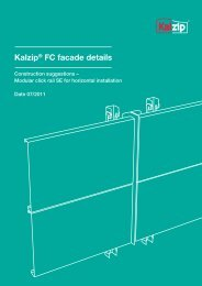 Kalzip® FC facade details