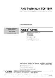 Avis Technique 5/06-1857 Kalzip Cintré
