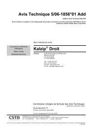 Avis Technique 5/06-1856*01 Add Kalzip Droit