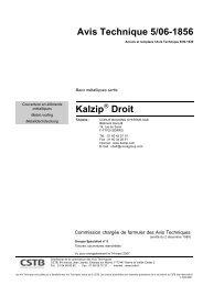 Avis Technique 5/06-1856 Kalzip Droit