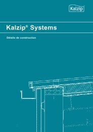 couverture froide - Kalzip