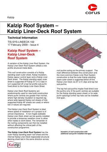 Kalzip Roof Pitch & Kalzip Installation Guideline - 1 / 84 ...