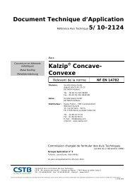 Document Technique d'Application Kalzip Concave- Convexe