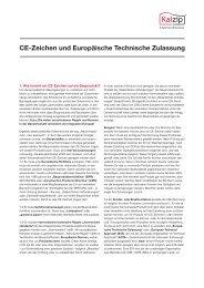 CE-Zeichen und Europäische Technische Zulassung - Kalzip