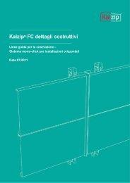 Kalzip® FC dettagli costruttivi
