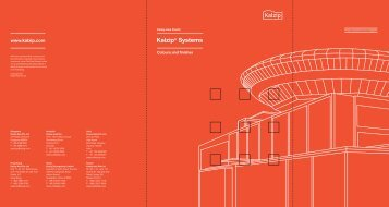 Kalzip® Systems Colours and finishes