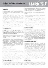 Herd Winston Aufbau- und Bedienungsanleitung - Hark