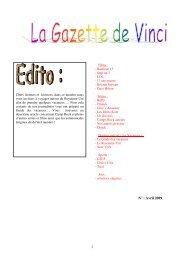 1 N° : Avril 2009 - COLLEGE LEONARD DE VINCI de Guigneville ...