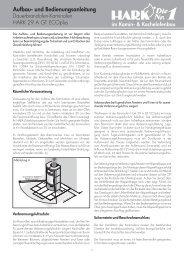 Aufbau- und Bedienungsanleitung - Kaminbau GmbH