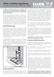 Dauerbrand-Kaminofen HARK 65 und 66 Aufbau ... - Kaminbau GmbH