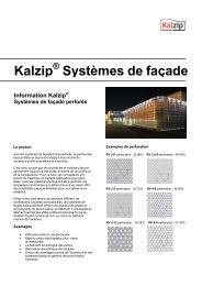 Kalzip Systèmes de façade