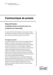 Communiqué de presse - Kalzip