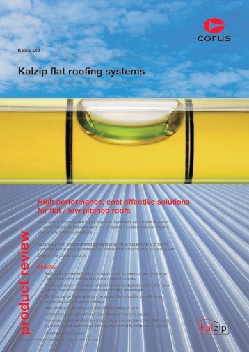 Kalzip flat roofing systems