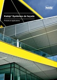 Kalzip® Systèmes de façade