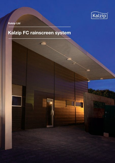 Kalzip FC Rainscreen System Brochure - Barbour Product Search