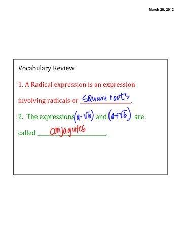11 3 Solving Radical Equations