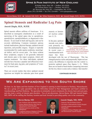 Spinal Stenosis - Spine Pain Docs