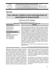 Free radicals, oxidative stress and importance of antioxidants in ...
