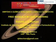 FREE RADICALS IN LEAD POISONING Etelvino JH Bechara - Fapesp