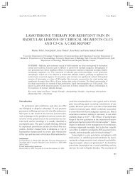 LAMOTRIGINE THERAPY FOR RESISTANT PAIN IN RADICULAR ...