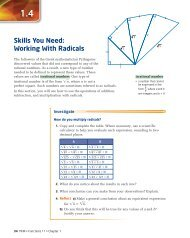 Skills You Need: Working With Radicals - McGraw-Hill Ryerson
