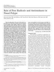 Role of Free Radicals and Antioxidants in Nasal Polyps