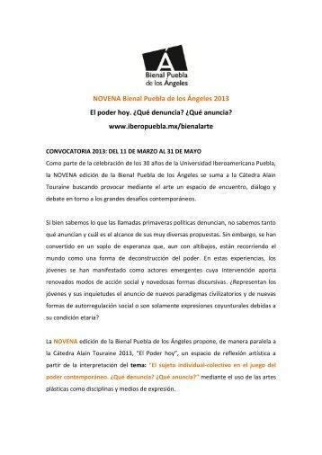 Novena Bienal Puebla de los Ángeles 2013 - Cecut