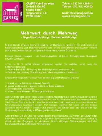 Mehrwert durch Mehrweg (PDF, 163 kB) - Kampen - rent an event!