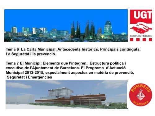 Temes 6 7 Ajuntament Bcn Pdf Ugt Bombers De Barcelona
