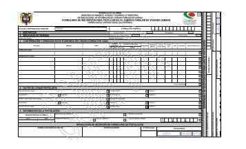 formulario de inscripción para postulantes al subsidio ... - Comfiar