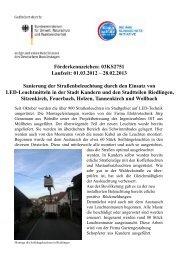 Stand des Projektes im November 2012 - Stadt Kandern