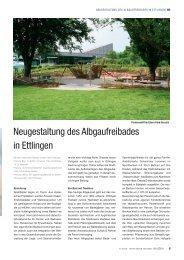 Neugestaltung des Albgaufreibades in Ettlingen - Kannewischer