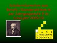 Praktikum 08. – 19. März 2010 - Kant-Gymnasium Boppard