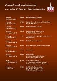 Advent und Weihnachten mit den Dresdner Kapellknaben
