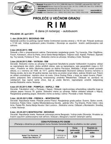 RIM 1 MAJ - Kontiki